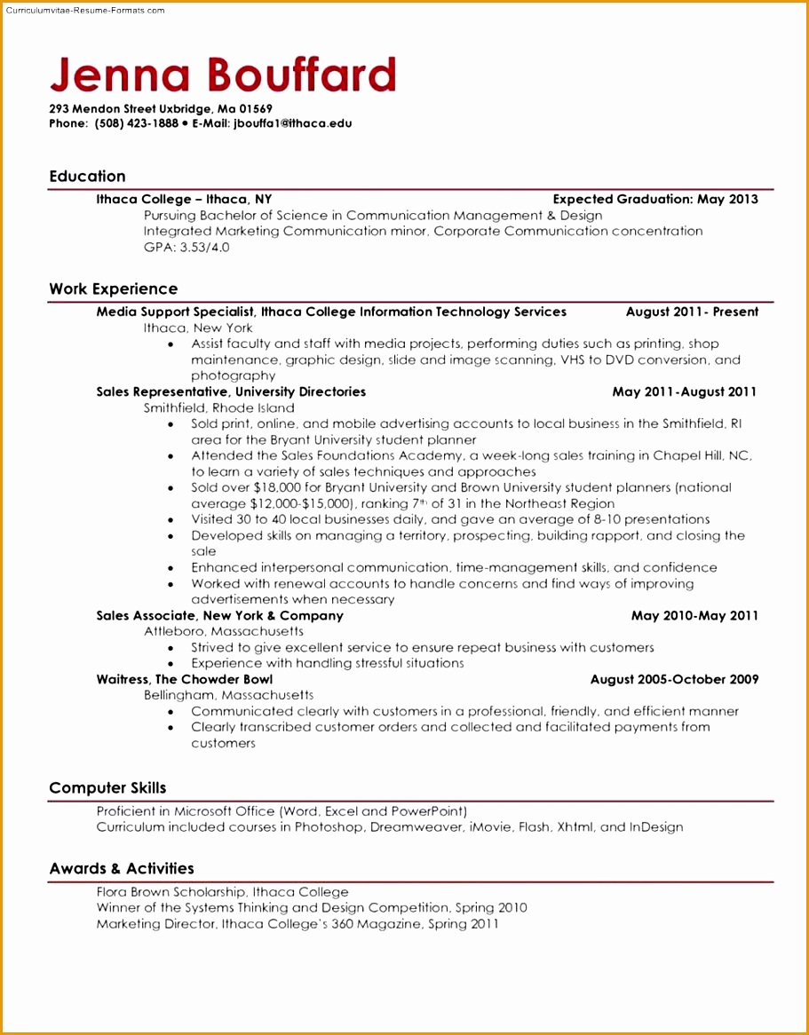 8 resume samples students free samples examples