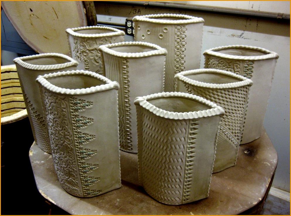gary jackson textured slab vases 1737993