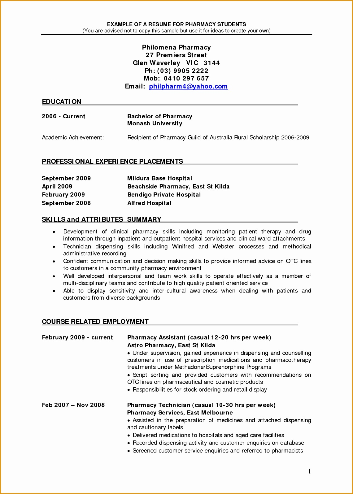 freshers pharmacy resume format15961140