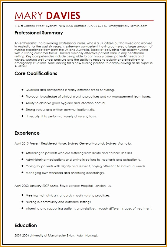 cv example for expats818552