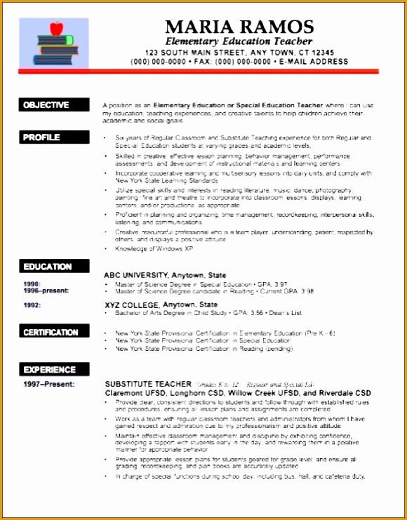 elementary school teacher resume example sample 6741580