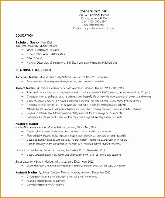 elementary teacher resume664552