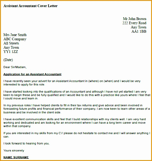 assistant accountant cover letter example556525