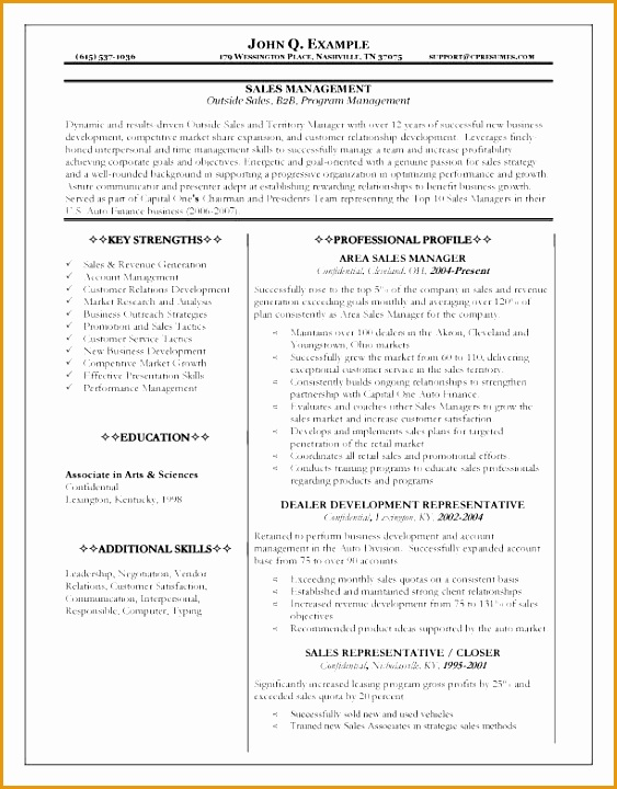 10 perfect career sales manager resume720563