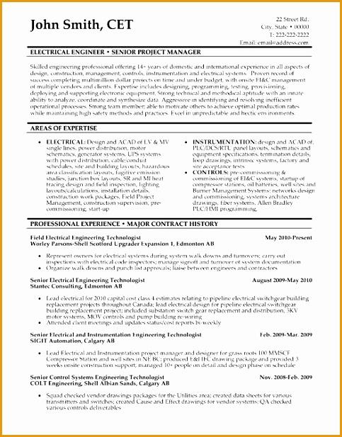 8 senior executive manufacturing engineering resume