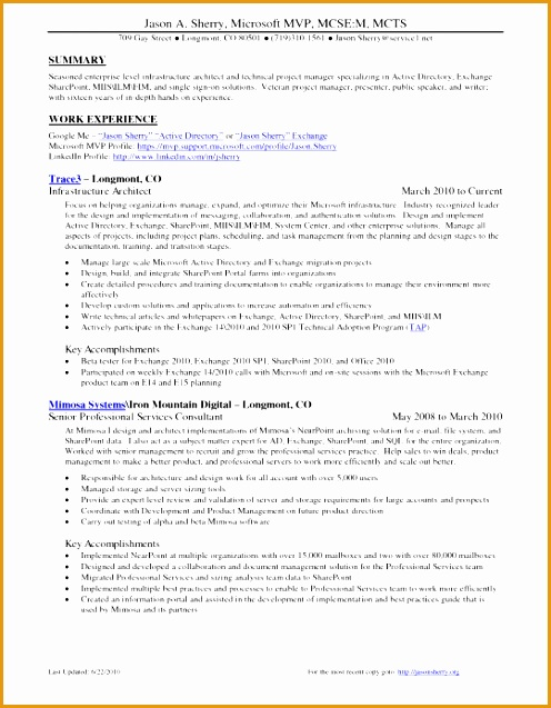 8 sharepoint administrator resume example