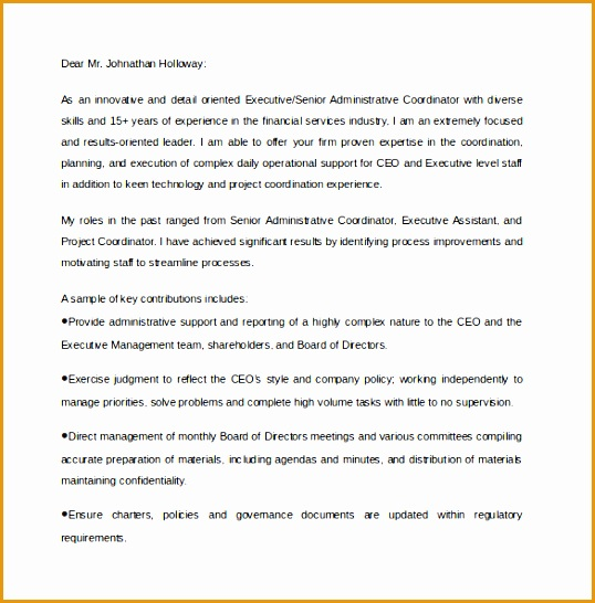 executive assistant cover letter546538