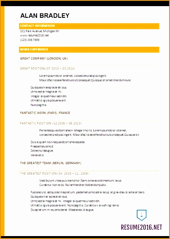 simple resume template 2017819583