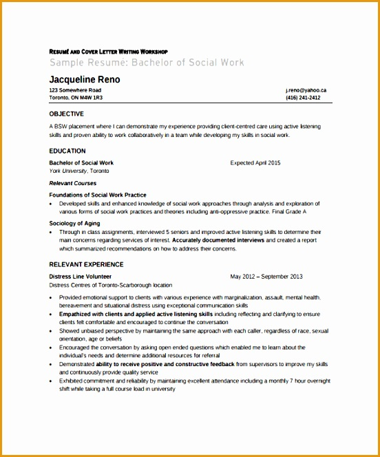 9 social worker resume template