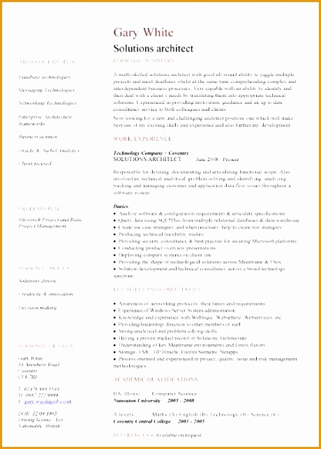 5 solution architect resume