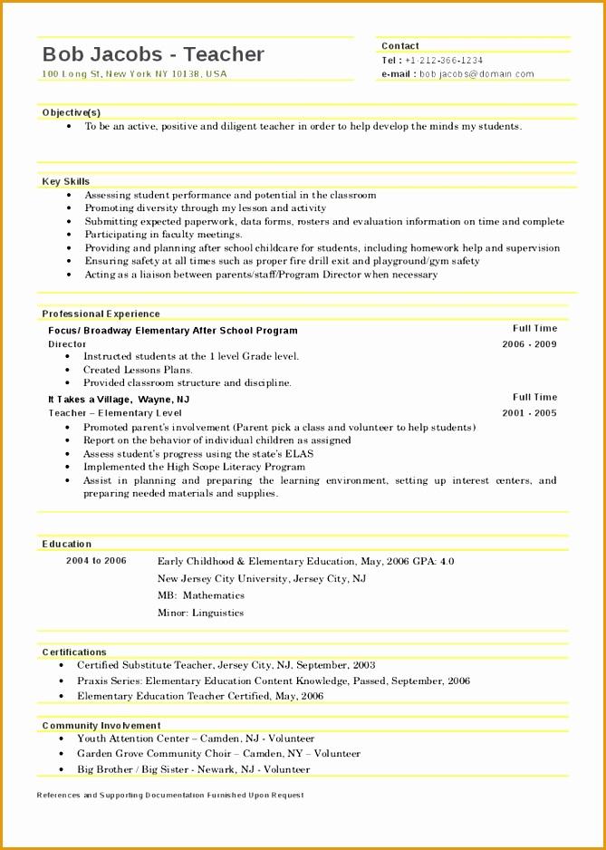 teacher resume template 2017938669