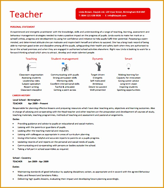 teacher resume template618538