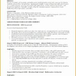 6 Teacher Experience Resume