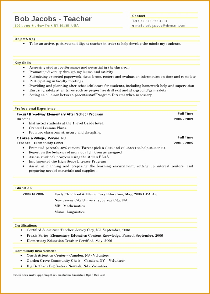 teacher resume template 2017938669