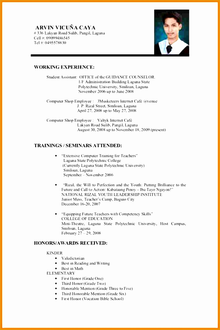 9 resume examples for college students1083721
