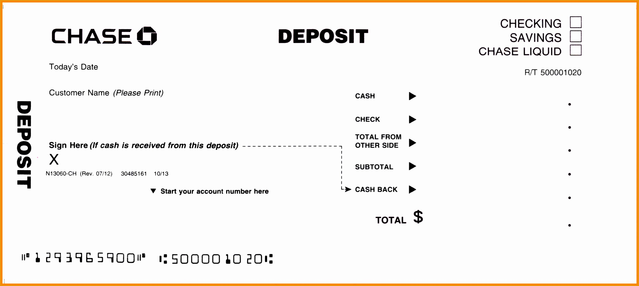 deposit slip template9342088