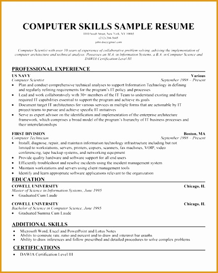puter skills section on resume 1891552442