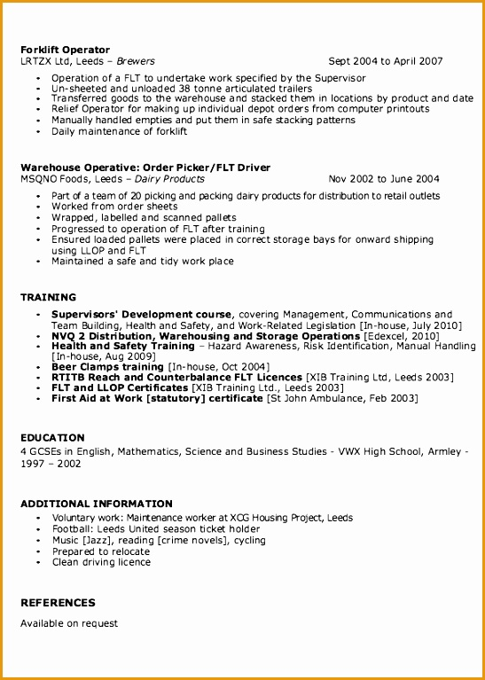 warehouse resume sample examples767547