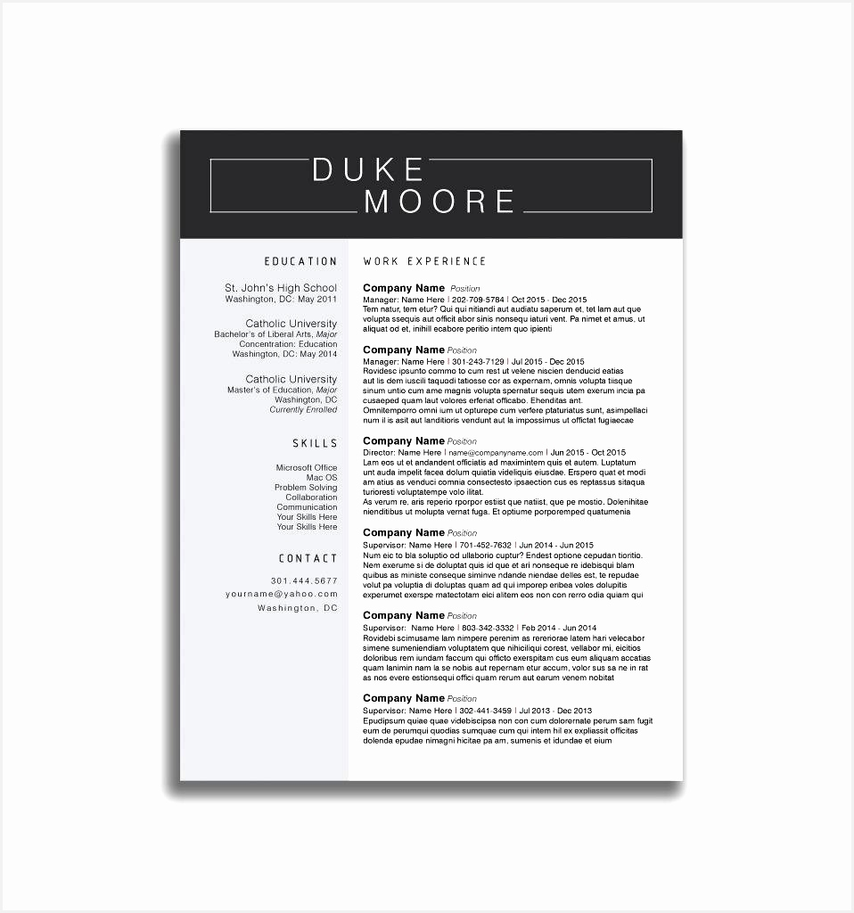 Simple Resume Templates Beautiful Free Simple Cv Template Best Resume Template Doc New Other Od1024958