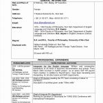 4 Blank Cv Template to Fill In