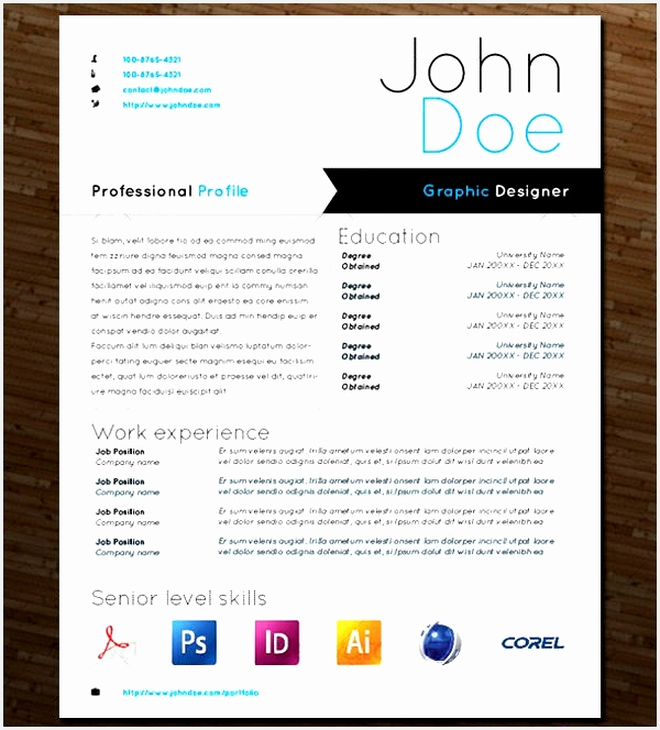 Free Creative Cv Template Download Word Elegant Free Psd Resume Templates 47 Awesome Free Creative664600