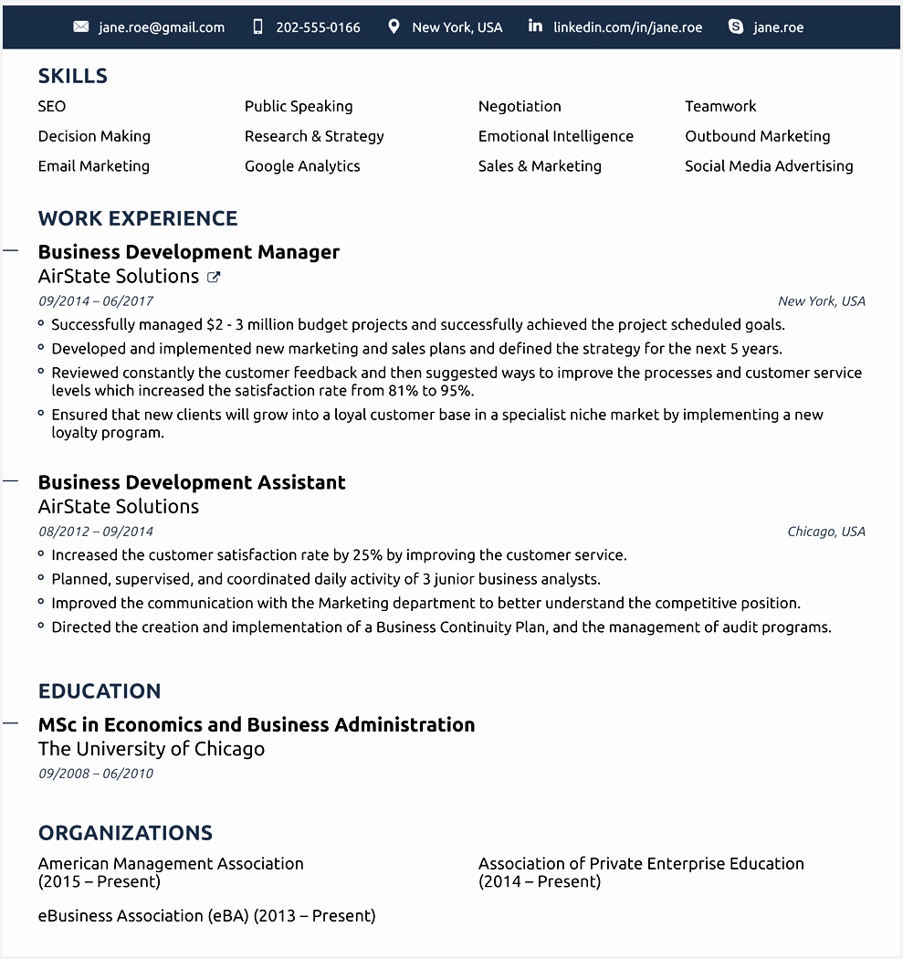 2018 Professional Resume Templates: Free Samples , Examples & Format
