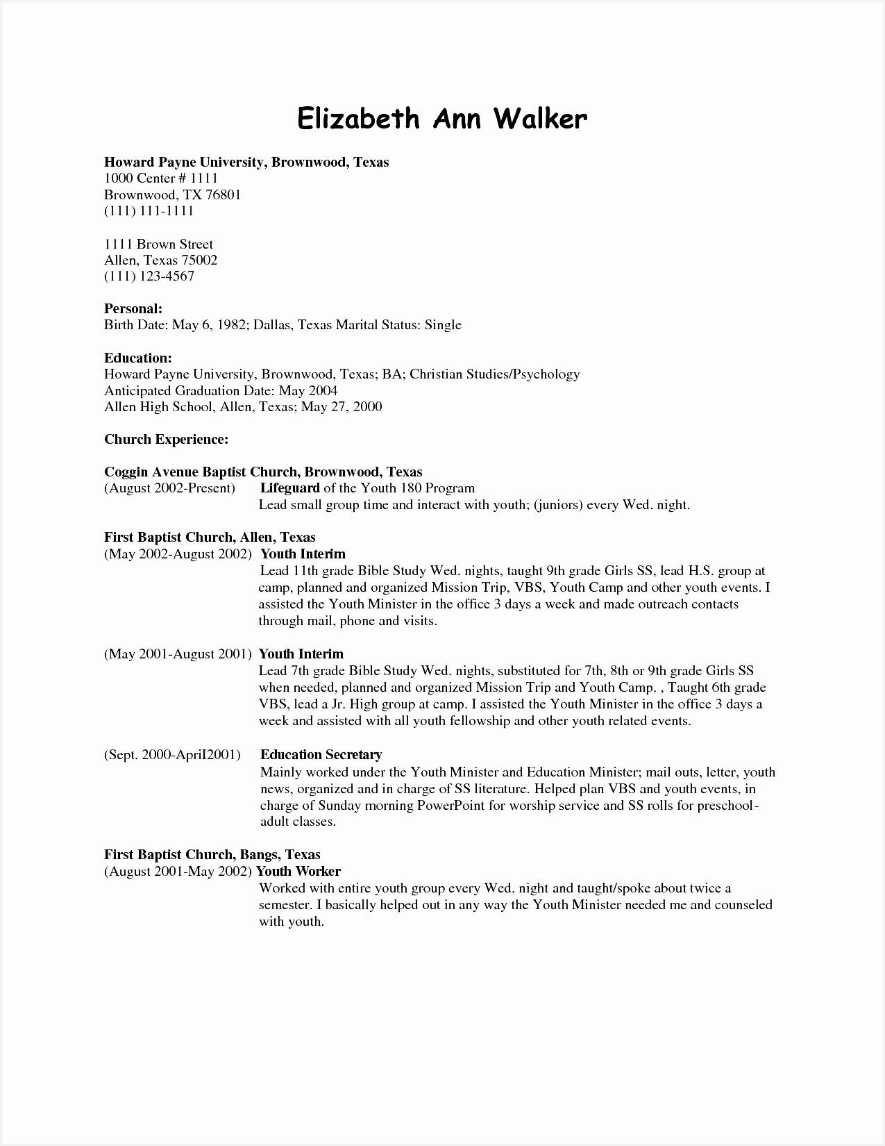 Church Resume Template Unique Outreach Worker Resume Kayskehauk Church Resume Template Beautiful Update My Resume16501275