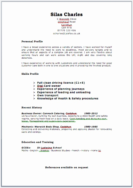 Great Cv Examples 2015 Uk 8 Posted on May 11 2018 Full size609433