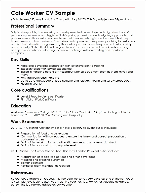 Good Cv Examples For First Job 9778588