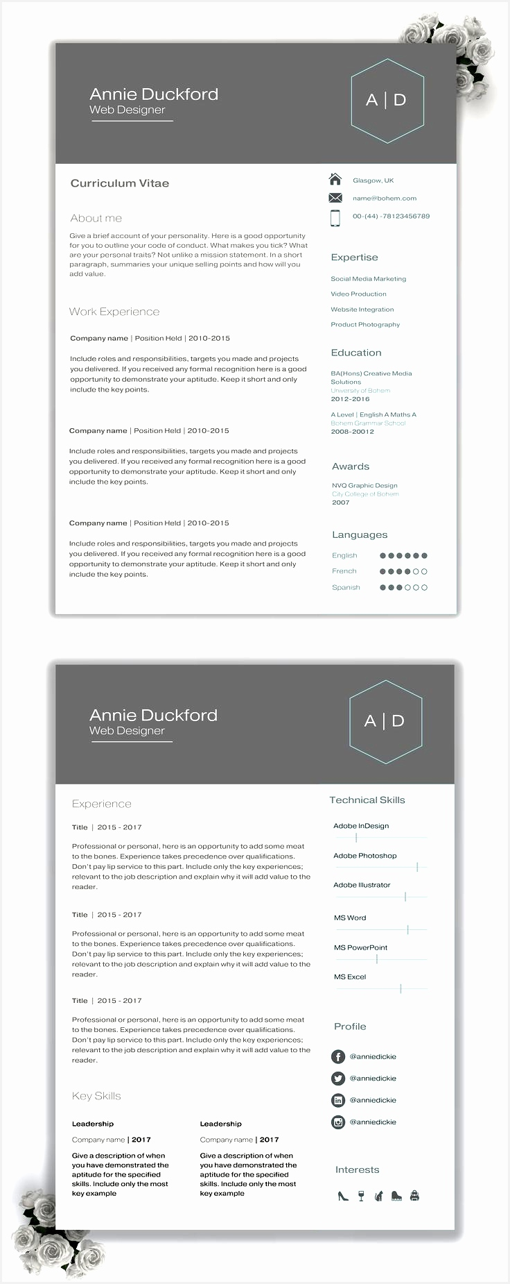 Modern Resume Template Unique 11 Best Architectural Colour Cvs Pinterest Modern Resume Template1850736