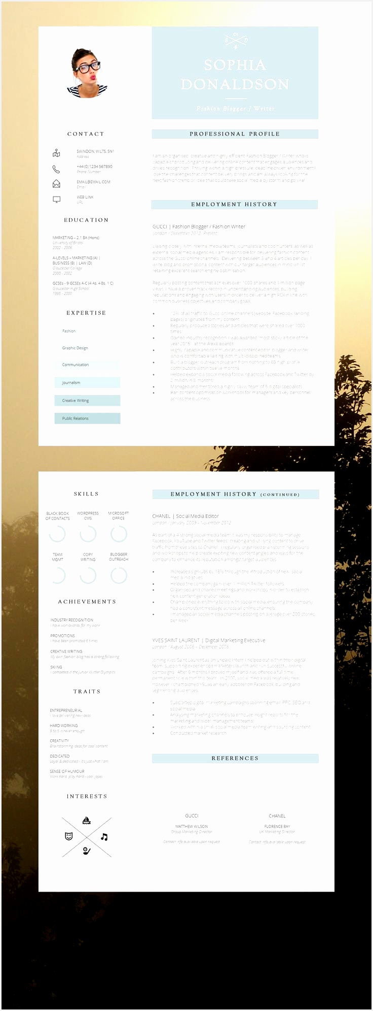 cv template by denisco and barker 2015