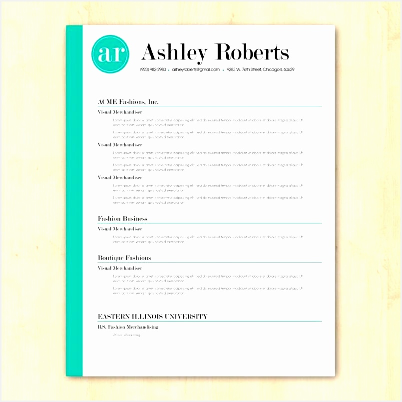 4 Cv Template Doc Download