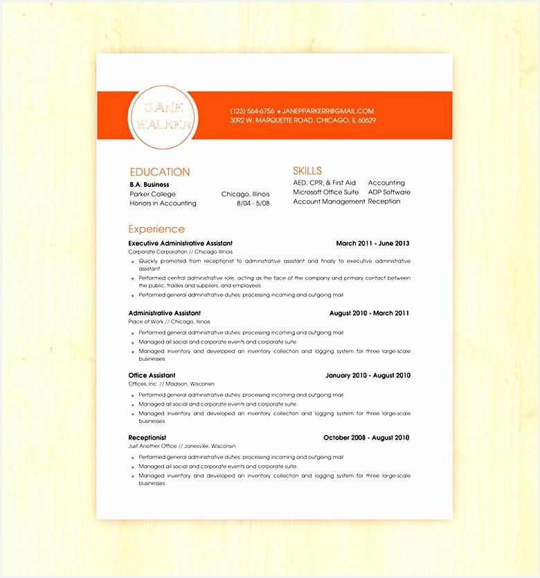 Basic Resume CV Template835780