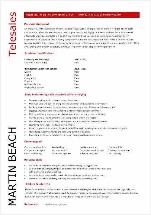 Entry level telesales resume template708500