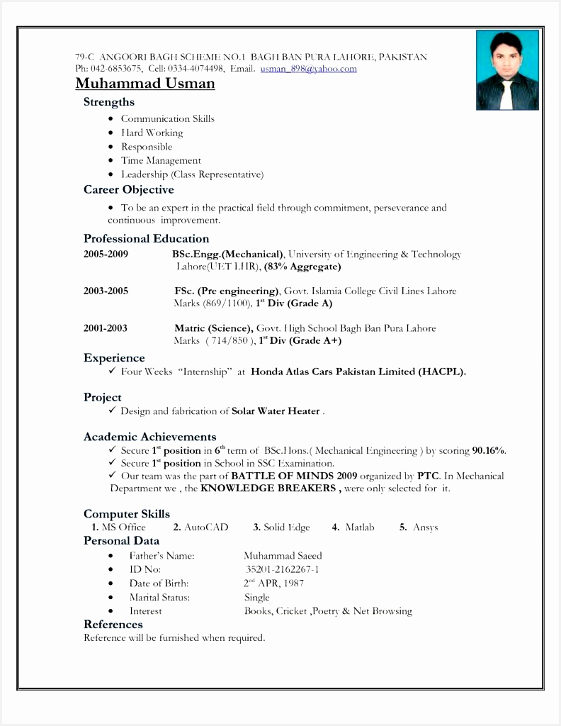Best Resume Format For Freshers Electrical Engineers Freeoad Mechanical Word puter Fascinating Free Download1024792