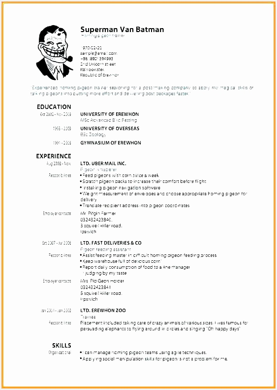 Graduate Cv Template Word Best Rn Resume Template Gratuitement Resume for Unique Free Example791563