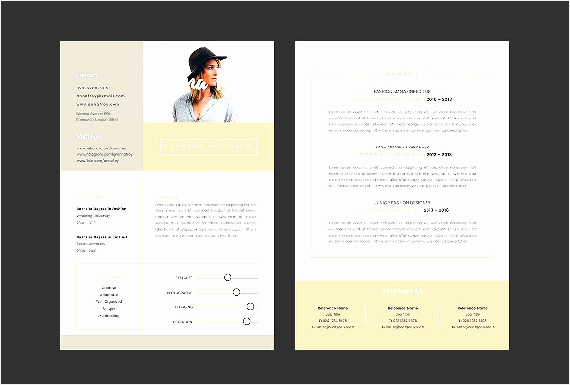 7 cv template graphic designer