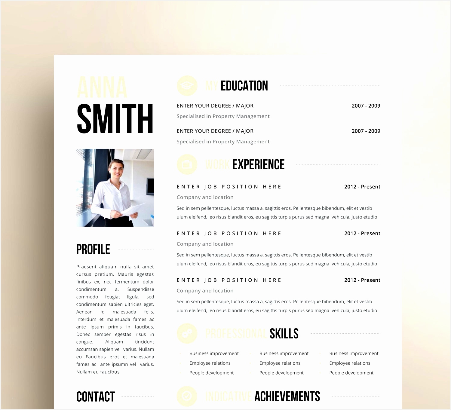 Inspirational Cv Design Templates Free Lovely Illustrator Resume 0d13641500