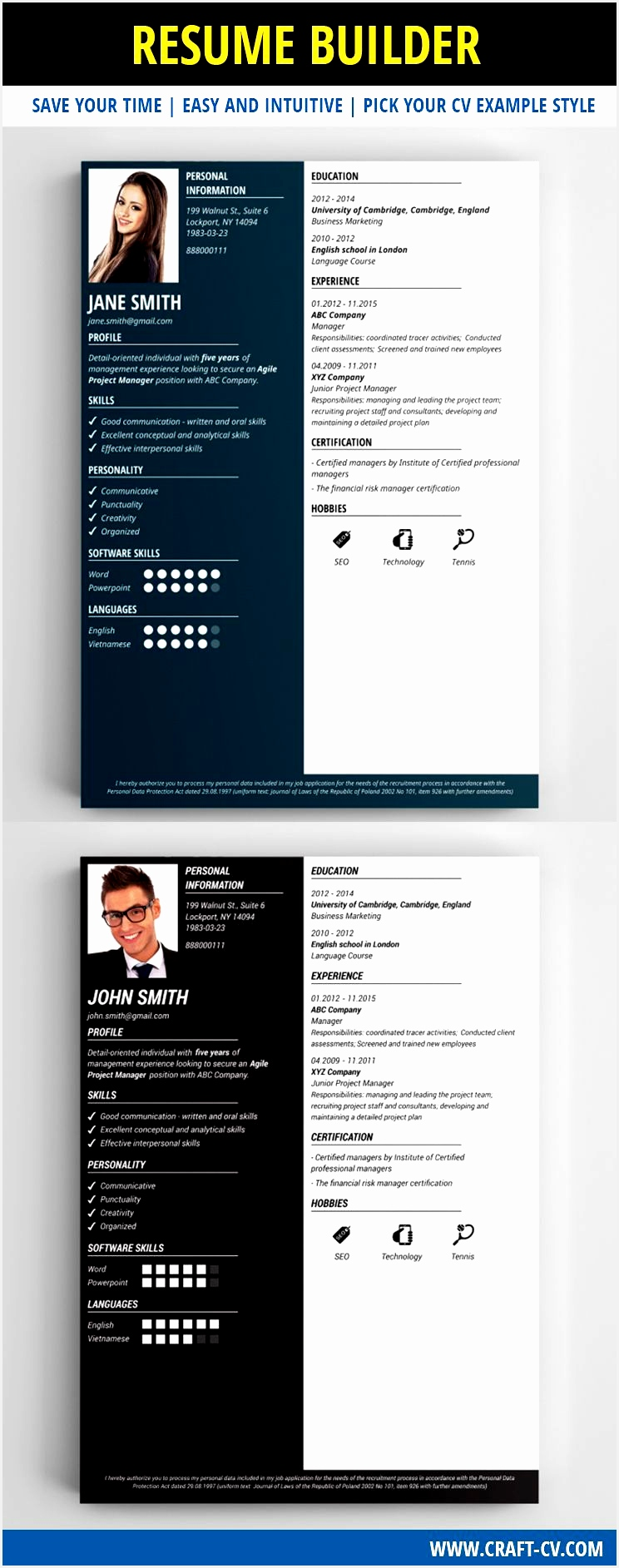 Resume Maker These Resume Templates will surely help you find a job The best Resume Maker with effective and original resume templates1885744