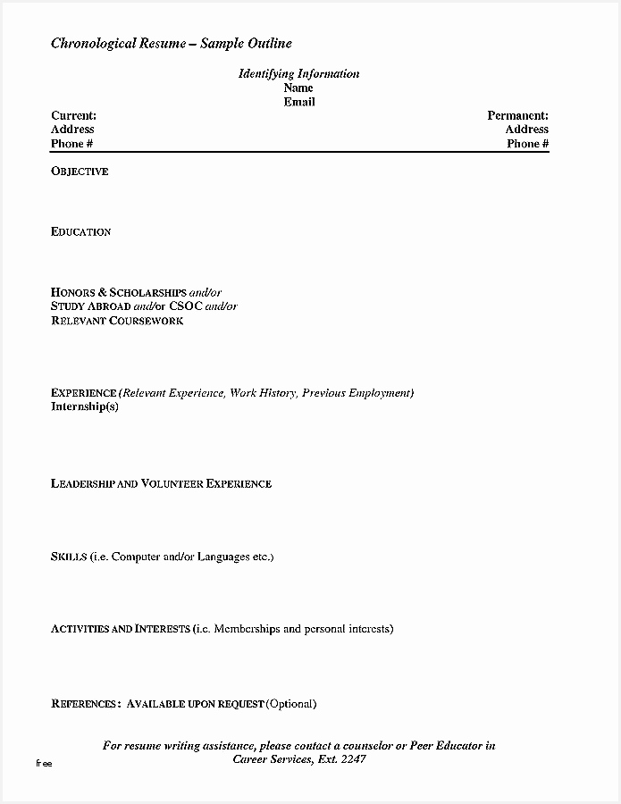 Hospitality Resume Templates Beautiful Resume Template Job900695