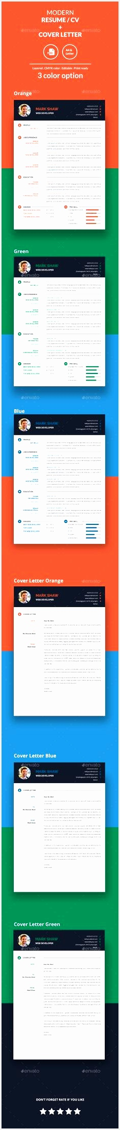 Modern Resume CV Cover Letter Template InDesign INDD2215236