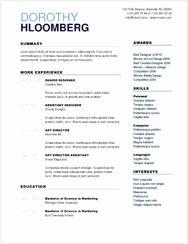 50 Free Microsoft Word Resume Templates for Download494382