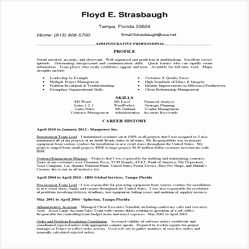 Professional Job Resume Template Od Specialist Cover Letter Lead500500