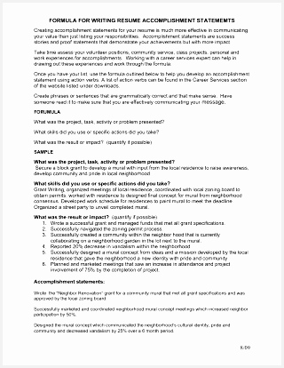 Resume Ac plishments Are Indeed Important Part Anysumes Administrative Assistant Achievements Templates Example Examples 320414320