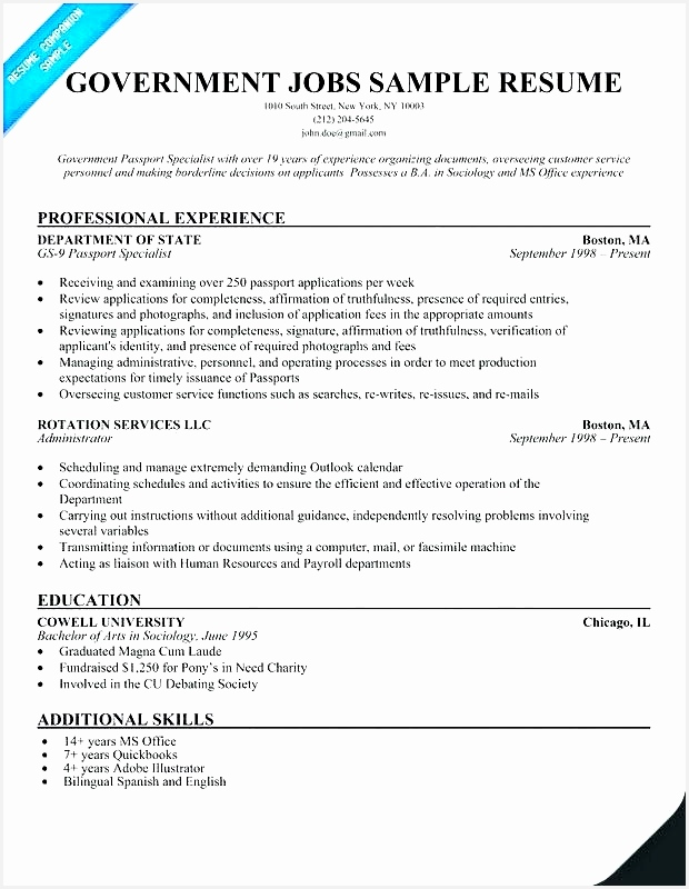 56 Best Federal Government Resume800620