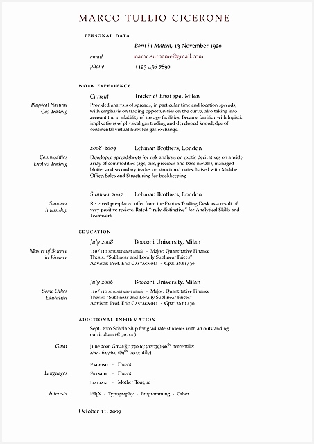 10 cv template latex mathematics