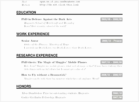 Resume economics phd