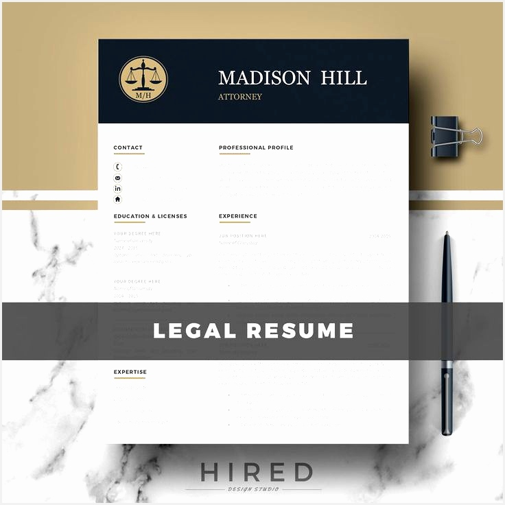 Attorney Resume CV Template Legal Resume CV Lawyer Resume CV Resume Template Matching Cover Letter & References736736