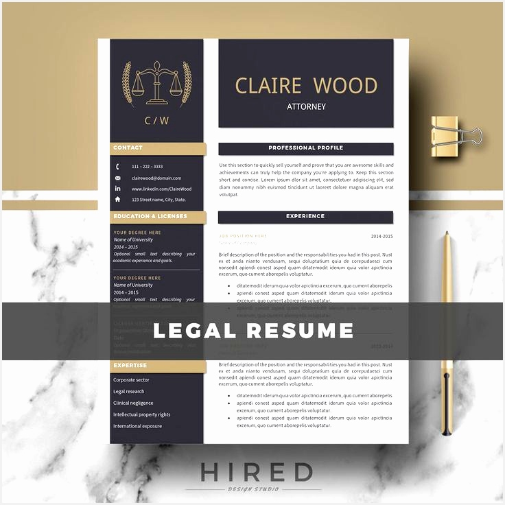 Attorney Resume Template Lawyer Resume Legal Resume CV Resume Cover Letter & References736736