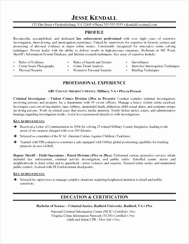 Law Enforcement Resume Template Law Enforcement Resume Template825638